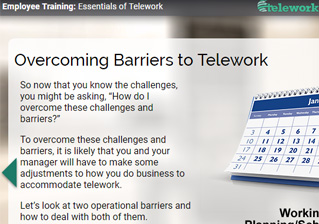 Telework a screen capture of the telework training module platinumwayz